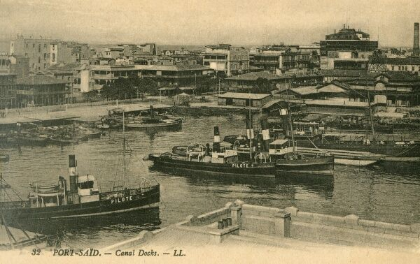 Pilot tugboats in the Harbour at Port Said, Egypt