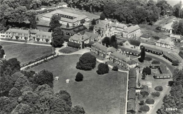 Aerial view of the Pinewood Sanatorium at Bagshot Sands, near Wokingham, Berkshire, which was originally opened in 1898 as the London Open Air Sanatorium by the National Association for the Prevention of Tuberculosis