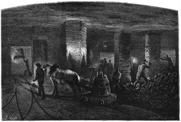 Horse at work in a South Staffordshire colliery [England] Date: 1869