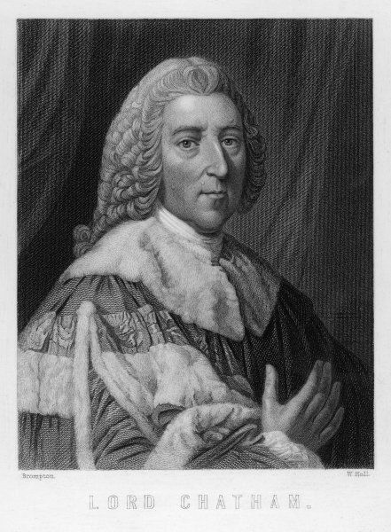 WILLIAM PITT - THE ELDER 1ST EARL OF CHATHAM English politician