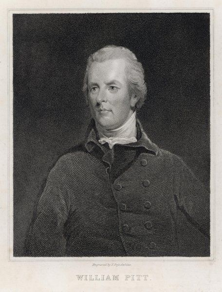 WILLIAM PITT THE YOUNGER English politician, second son of 1st Earl of Chatham