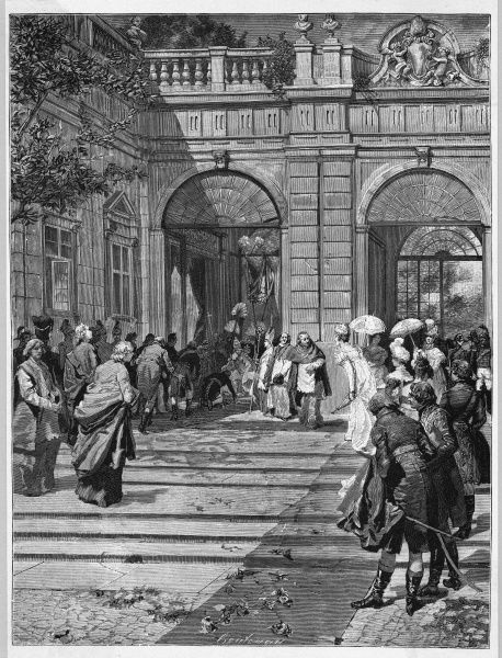 Pius VII returns from exile following Napoleon's defeat : his feet are kissed by Carlo Emanuele IV as he enters St Peter's, and he forms a reactionary government