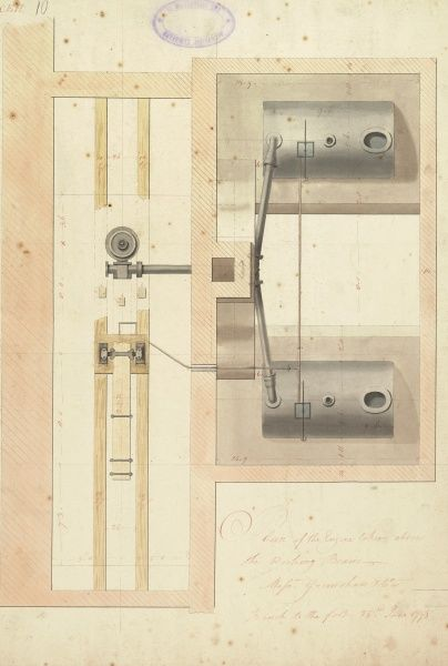 Plan of the engine taken above the working beam Date: 1795
