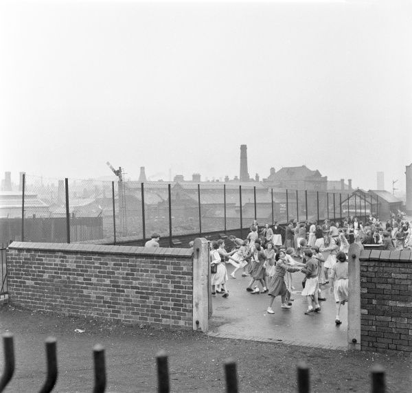 Children in the playground of Stoke School