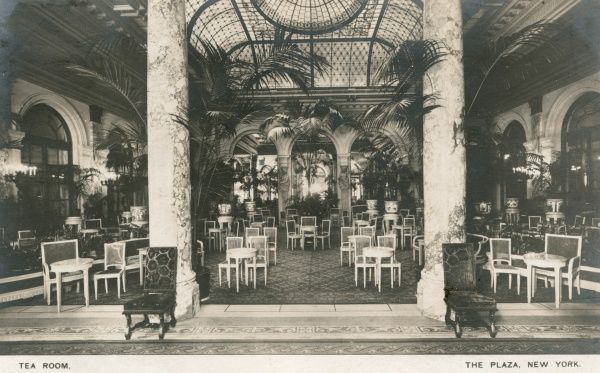 The Tea Room at the Plaza Hotel, New York City, America