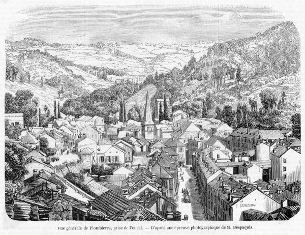 Spa town in the Vosges, seen here from the west