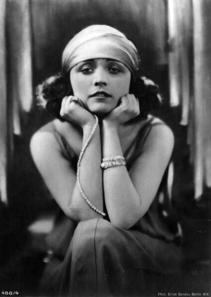 POLA NEGRI (Appolonia Chalupek) Polish-born actress who went to Hollywood in the 1920s and was successful in silent films Date: 1897 -1987