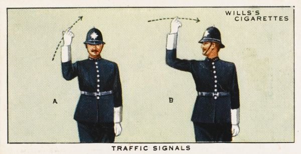 This police signal means : 'COME ON.&#39