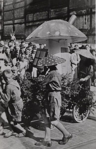 Polish Scouts performing at an event circa 1930s