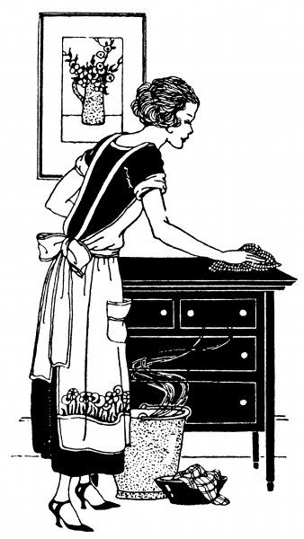 She polishes a chest of drawers Date: 1923