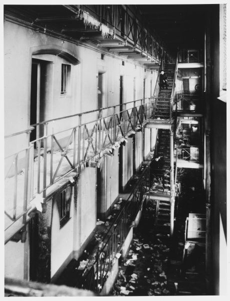 House of preliminary detention, Petrograd, after the release of political prisoners held by the authorities