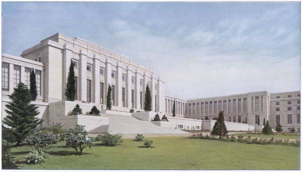 THE LEAGUE OF NATIONS New palace at Geneva