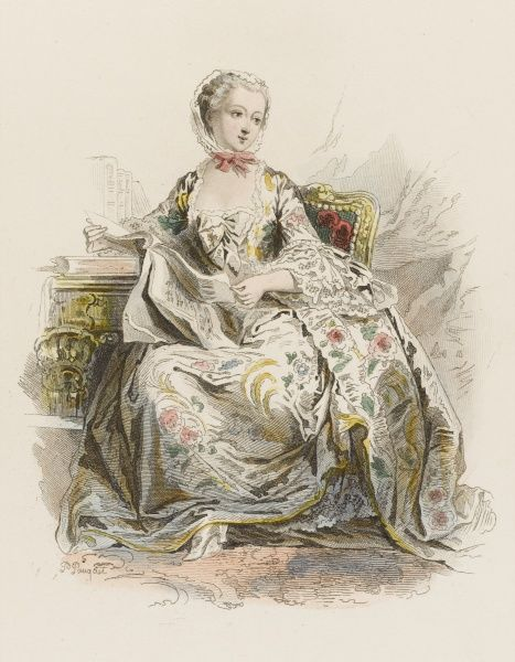 JEANNE-ANTOINETTE POISSON, madame de POMPADOUR, mistress of Louis XV