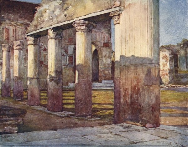 Pompeii - The Stabian Baths. Date: 1910