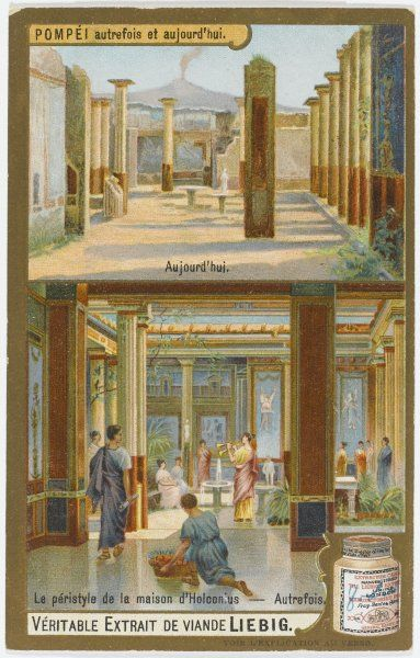 Pompeii 'Yesterday and Today' The peristyle of the House of Holconius