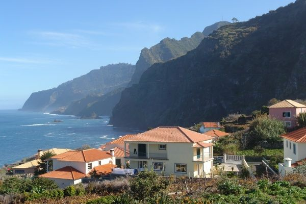 View of Ponta Delgada, in the district of Sao Vicente on the north coast of Madeira