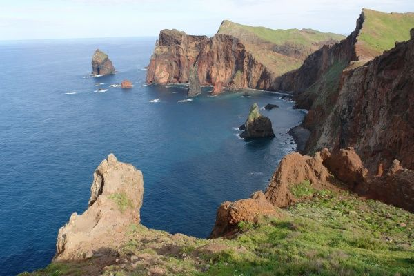 View of Ponta de Sao Lourenco, a remote and unspoilt location on the eastern coast of Madeira