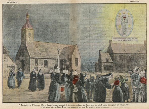 Several children have a vision of the Virgin Mary, during the last stages of the war with Prussia