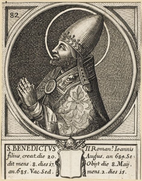 Pope Benedictus II pope and saint
