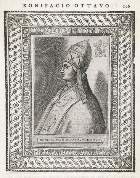 POPE BONIFACIUS VIII quarrelled with Philippe IV of France, who humiliated him, whereupon he died