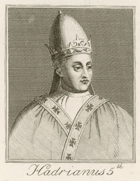 Pope Hadrianus V (Ottoboni dei Fieschi) Born c1205, achieved little during his short time as Pope