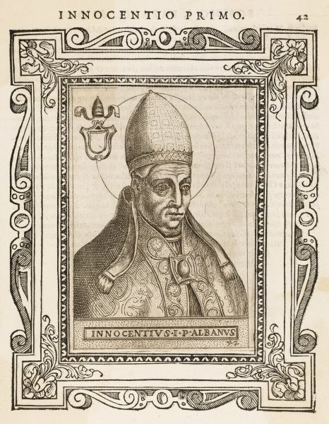 POPE INNOCENS I pope and saint Date: reigned 401 - 417