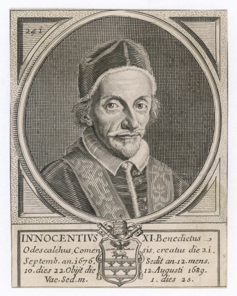 POPE INNOCENS XI (Benedetto Odescalchi) known as 'the Father of the Poor&#39