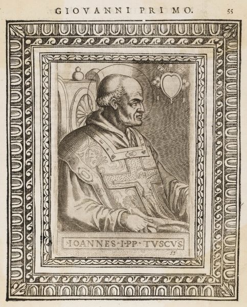 POPE JOANNES I pope and saint who died in prison