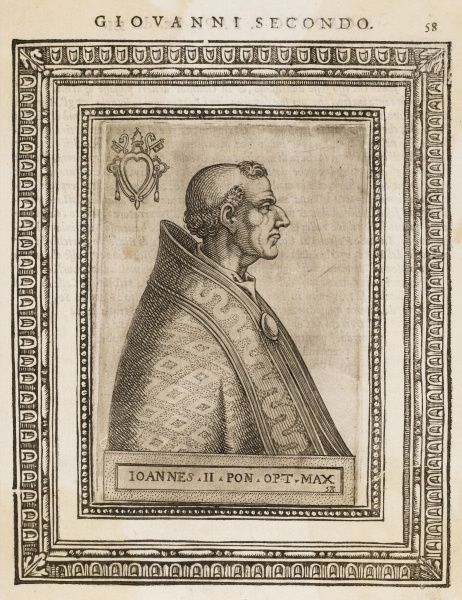 POPE JOANNES II (Mercurius) the first pope to change his name on becoming pope