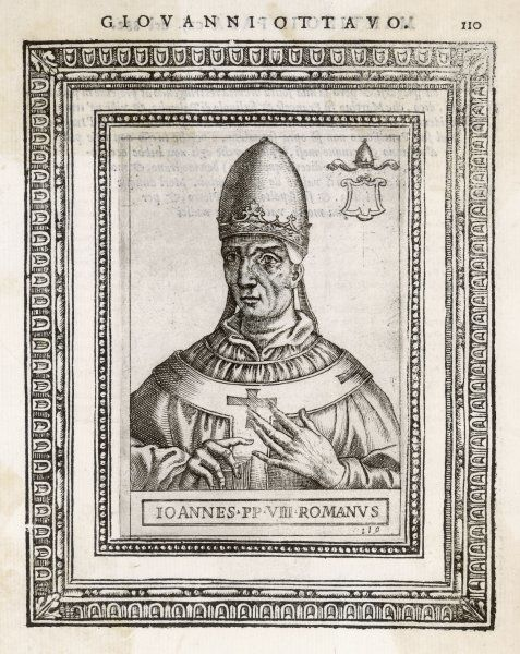 POPE JOANNES VIII the first pope to be assassinated, rather than martyred