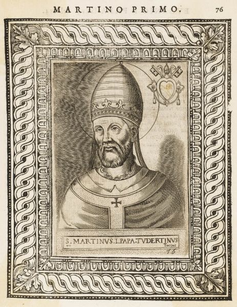 POPE MARTINUS I pope and saint, ill-treated and exiled