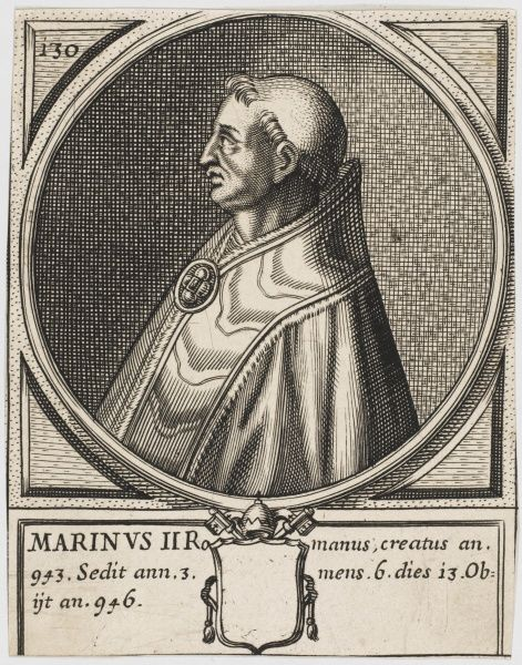Pope Martinus II. Sometimes known as Martinus I