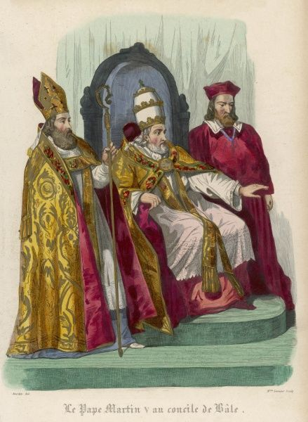 POPE MARTINUS V (Odo Colonna) at the Council of Basel, 1431