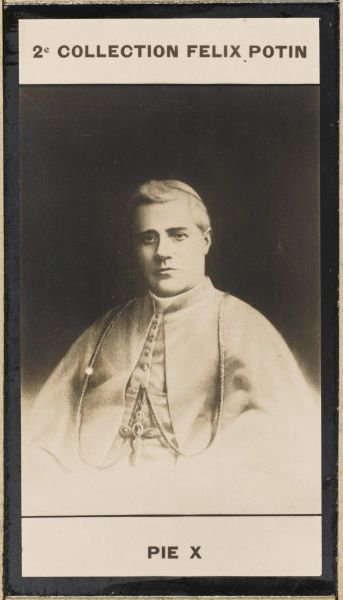 Pope Pius X (Giuseppe Sarto) pope and saint. Photographed earlier in life as Cardinal-Priest of Saint Bernardo alle Terme