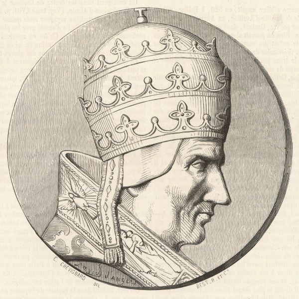 Pope Silvester II (Gerbert) French pope with so strong an interest in science that he was rumoured to be a magician. Was emperor Otton III's former private tutor
