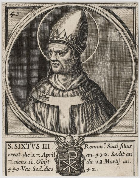 Pope Xystus (Sixtus) III pope and saint