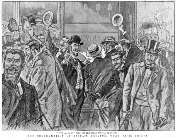 There is widespread delight in France when Dreyfus is found guilty for the second time, proving that the military have been right all the time