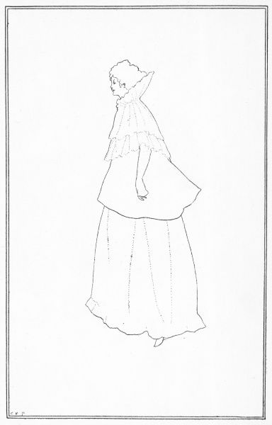 Portrait of Madame Rejane by Aubrey Beardsley in The Yellow Book, volume II, July 1894