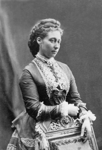Portrait of Princess Alice Maud Mary (1843-1878), Grand Duchess of Hesse, third child and second daughter of Queen Victoria and Prince Albert. Alice married Grand Duke Louis (Ludwig IV) of Hesse in 1862 and had seven children. Among them were Alexandra