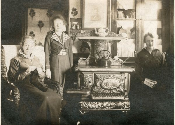 Portrait of three women at home