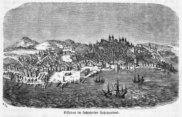 Ancient view of the city from the sea