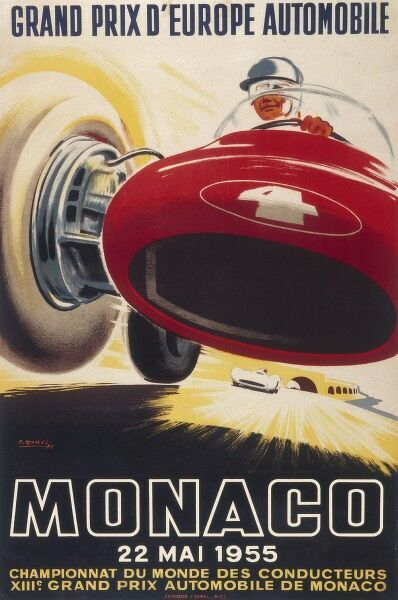 Poster for the 13th Monaco Grand Prix on 22nd May 1955