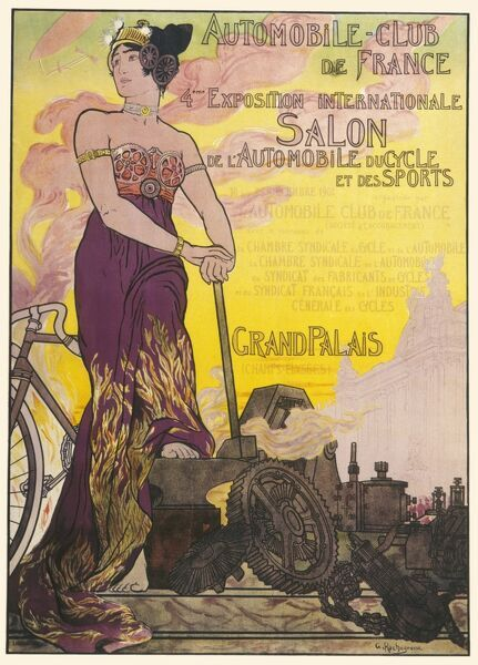 Poster for the 4th Paris Motor Show held at the Grand Palais from 10th-25th December 1901