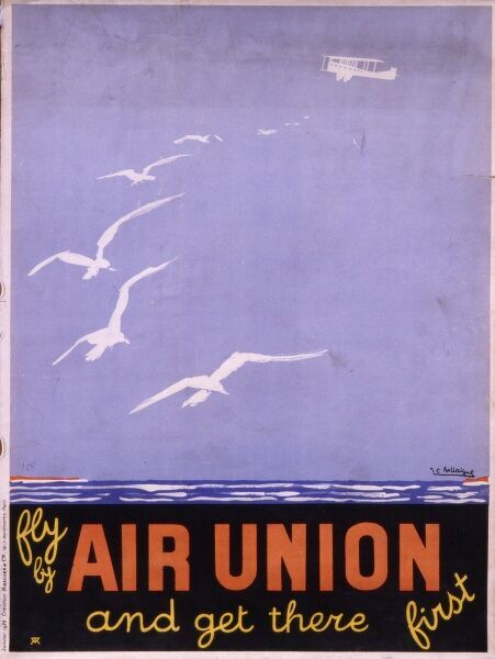 Poster advertising Air Union flights