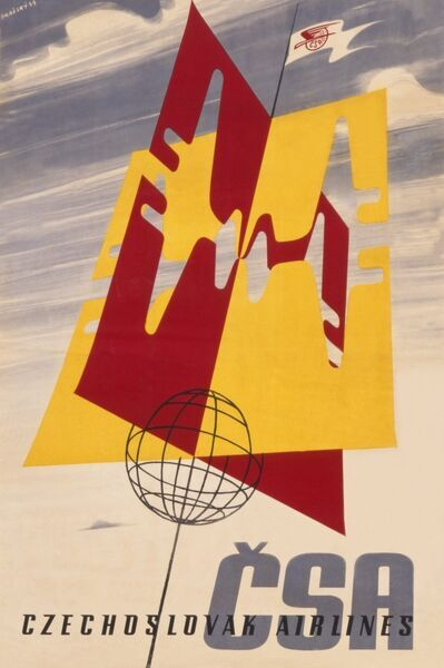 Poster advertising Czechoslovak Airlines, CSA