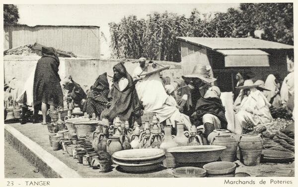 Pottery Sellers - Tangiers, Morocco