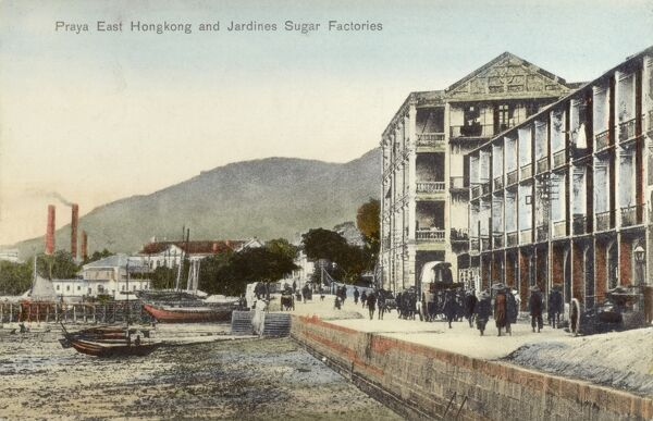 Praya East Hong Kong and Jardine's Sugar Factories Date: 1908