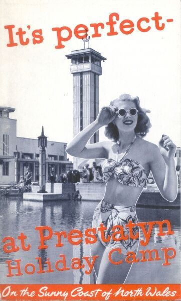 Advertisement for the Prestatyn Holiday Camp in North Wales