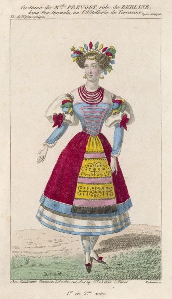 Mademoiselle Prevost in the role of Zerline