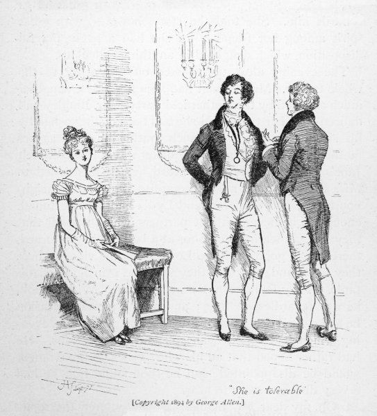 Mr Darcy finds Elizabeth Bennet 'tolerable&#39